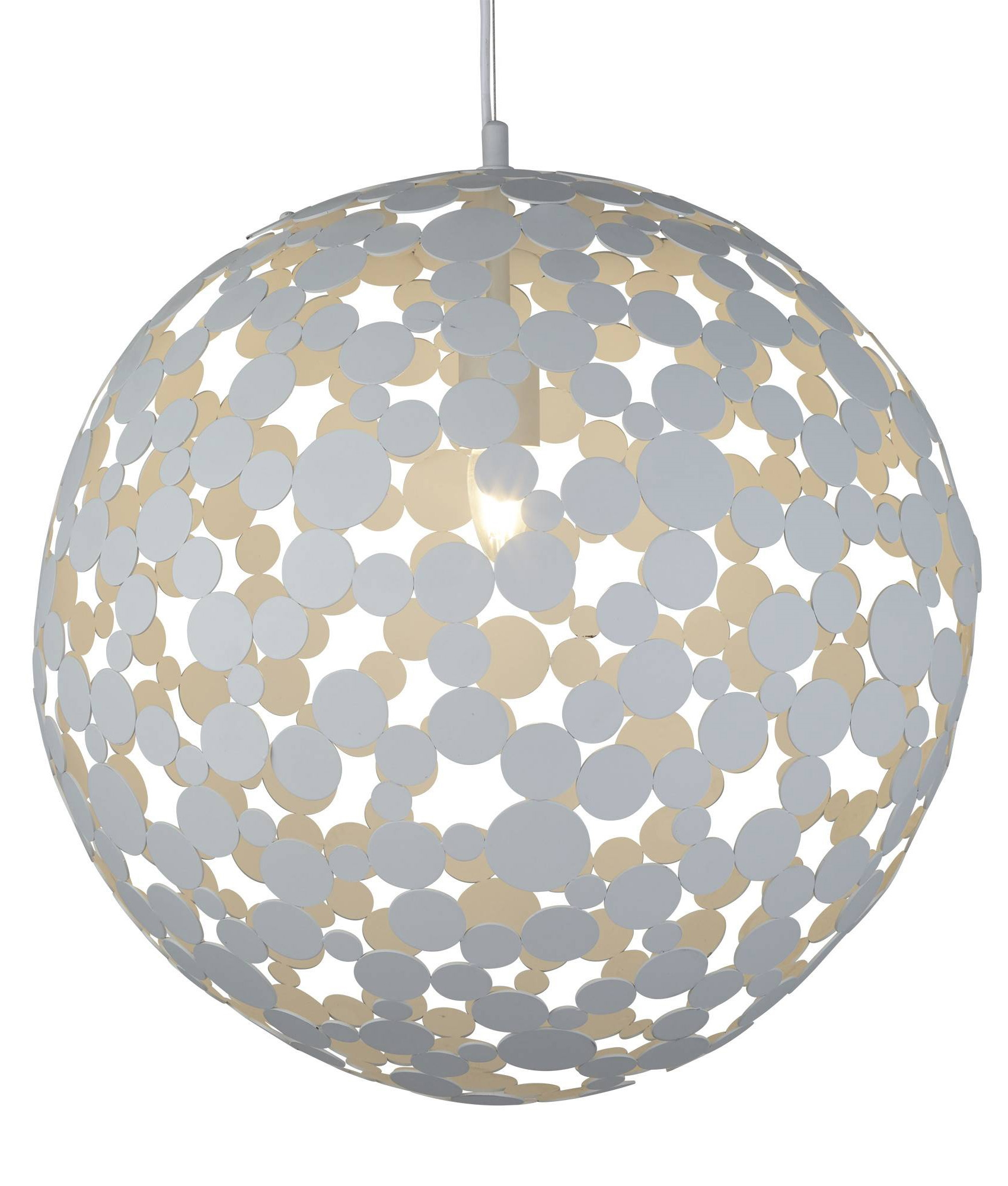 Large Globe Pendant With Cut Out Circle Detailing