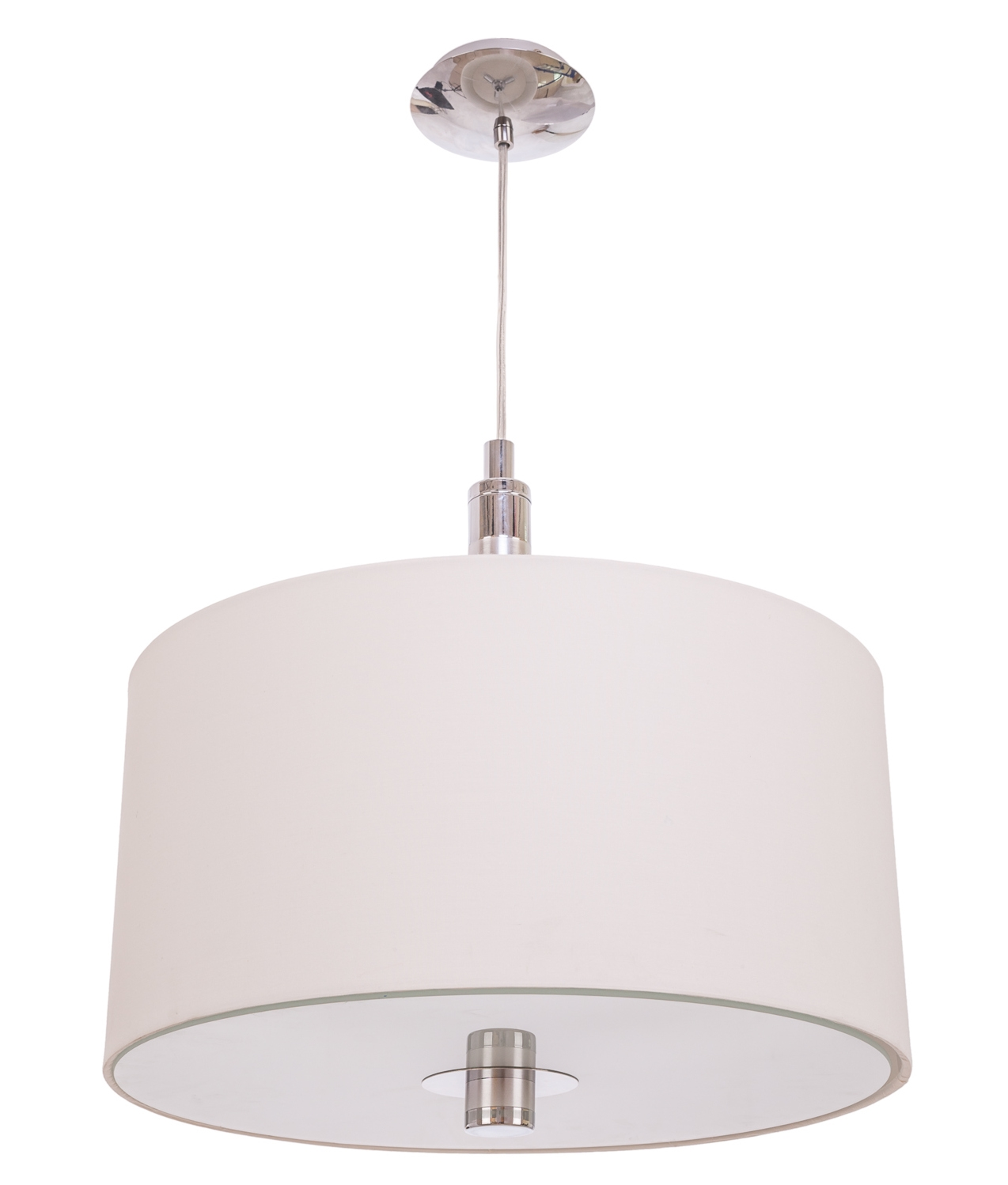 White Fabric Pendant Light Touch Dimmer