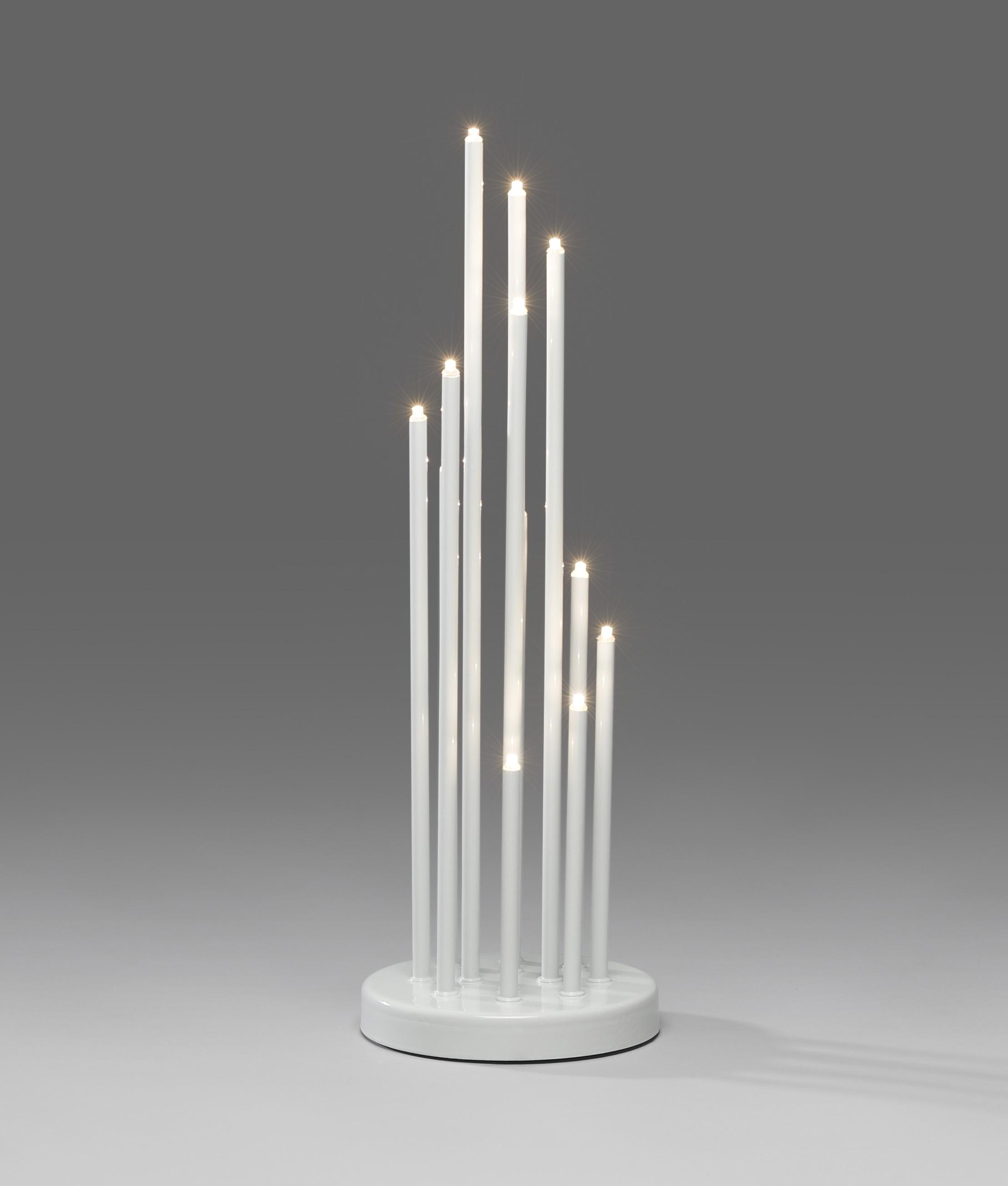Modern Led Candlestick Black White Or Silver