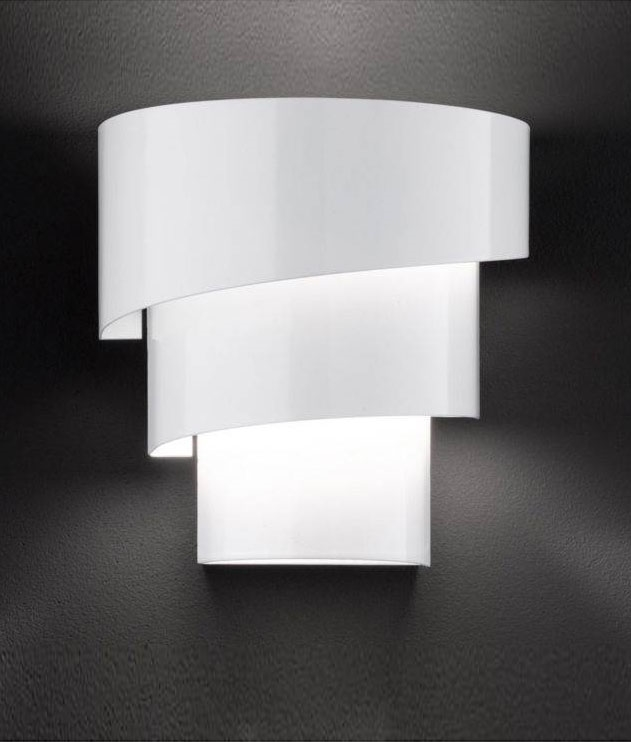 Wall Sconces That Shine Up And Down: Spiral White Wall Light