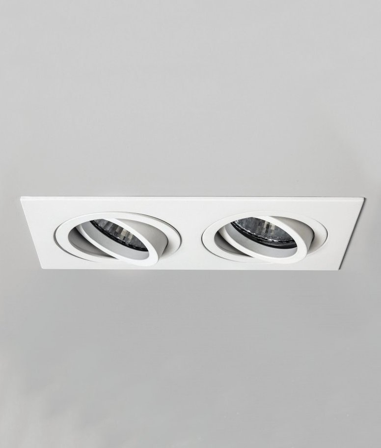 Adjustable Recessed Twin Downlight Fire Rated