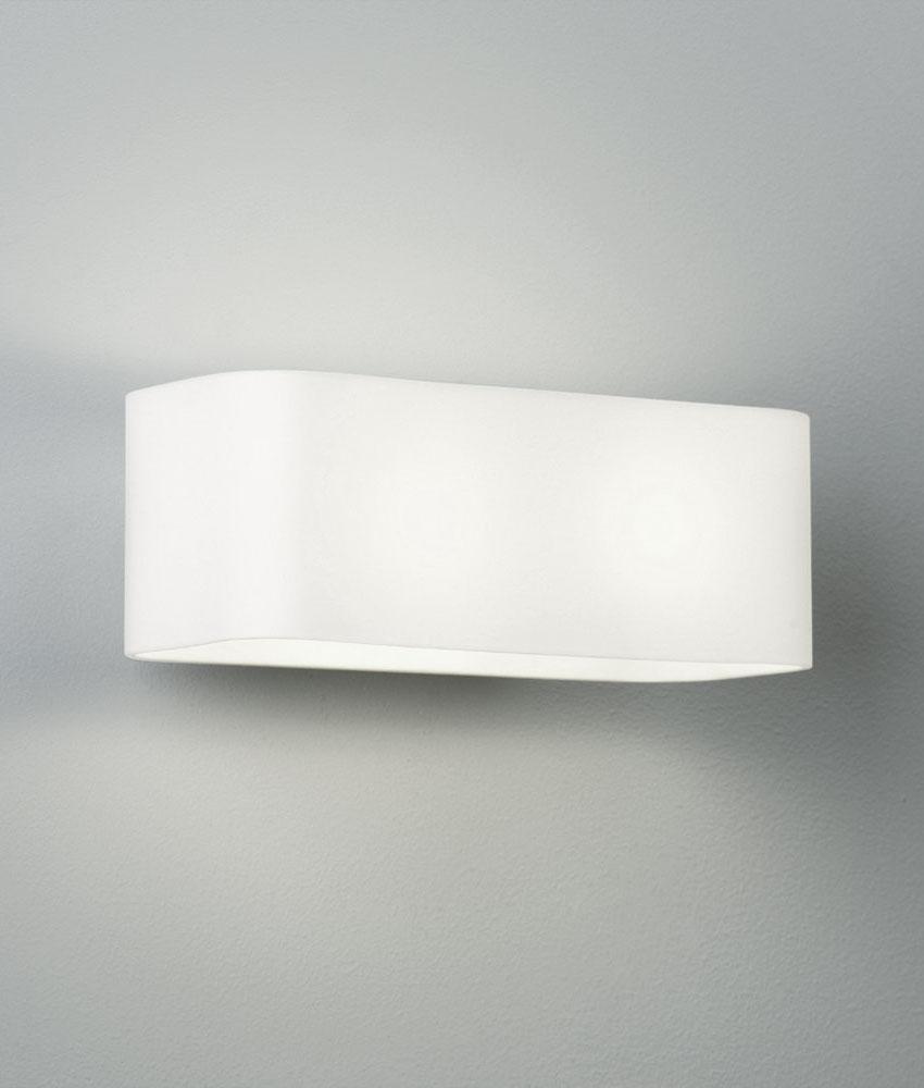 Twin Glass Wall Lights : Opal Glass Twin Lamp Wall Light