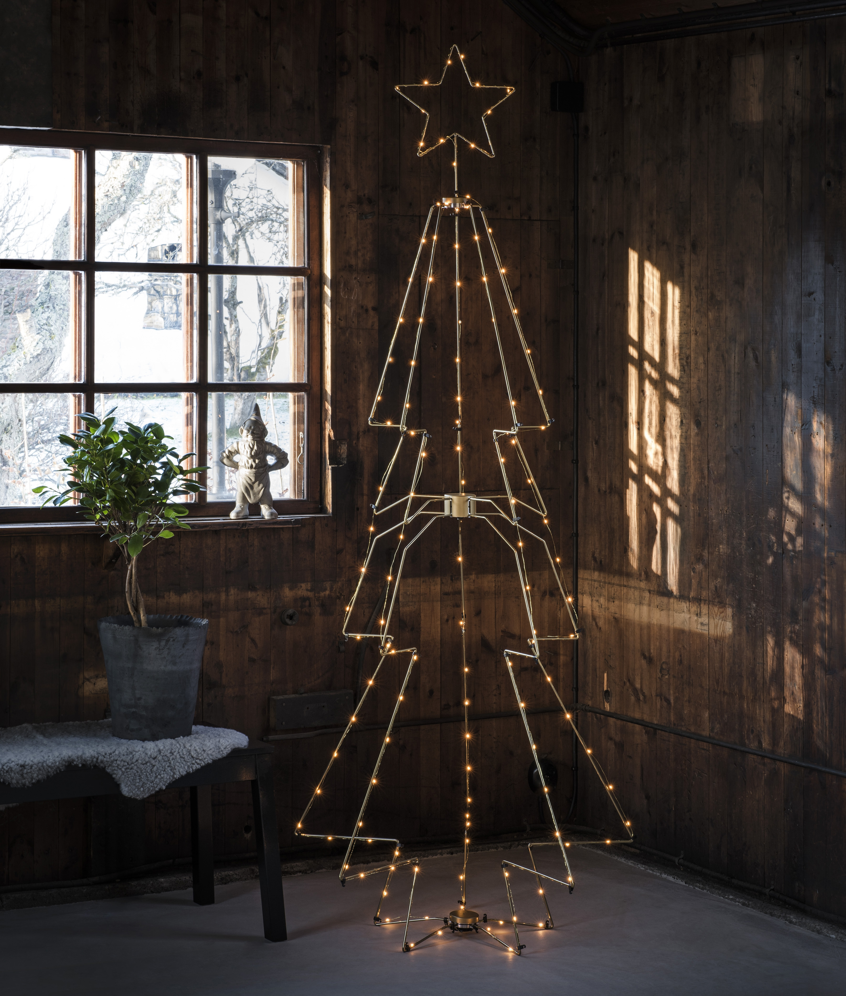 Wire Christmas Tree.Modern Led Wire Christmas Tree With Star