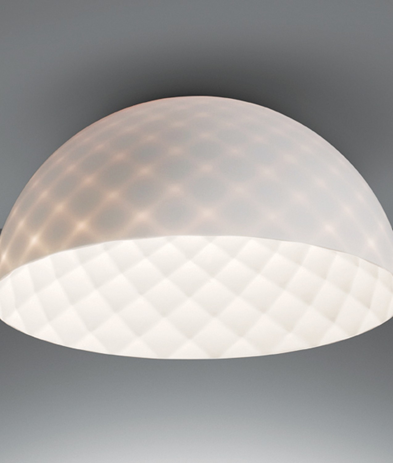 Ceiling Mounted Light With Semi Transparent Reflector