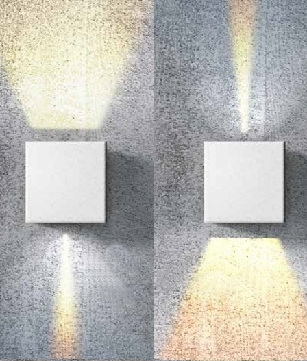 Adjustable Beam Interior Square Up Amp Down Wall Light
