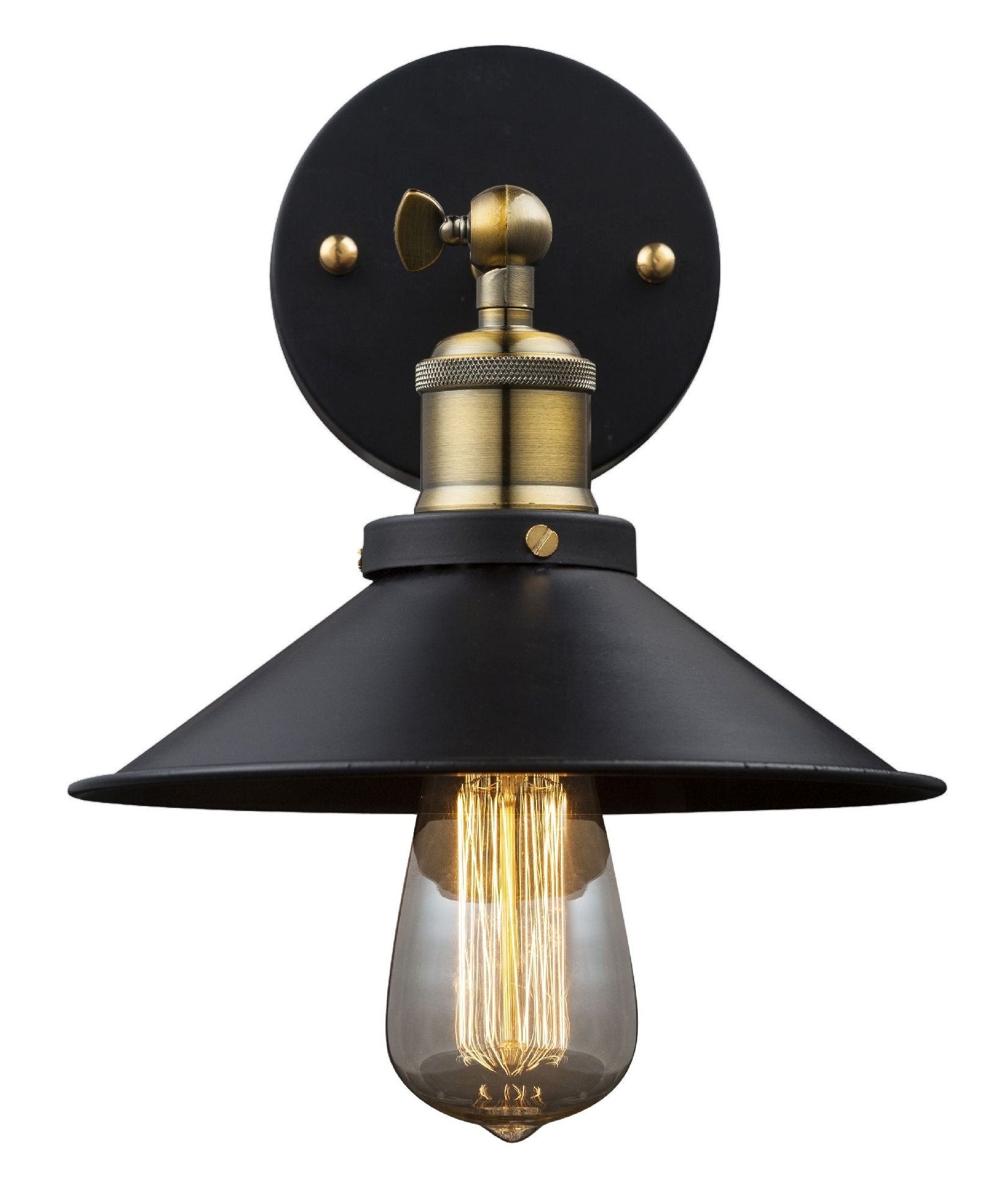 Railway Pioneer Style Metal Wall Light Black With