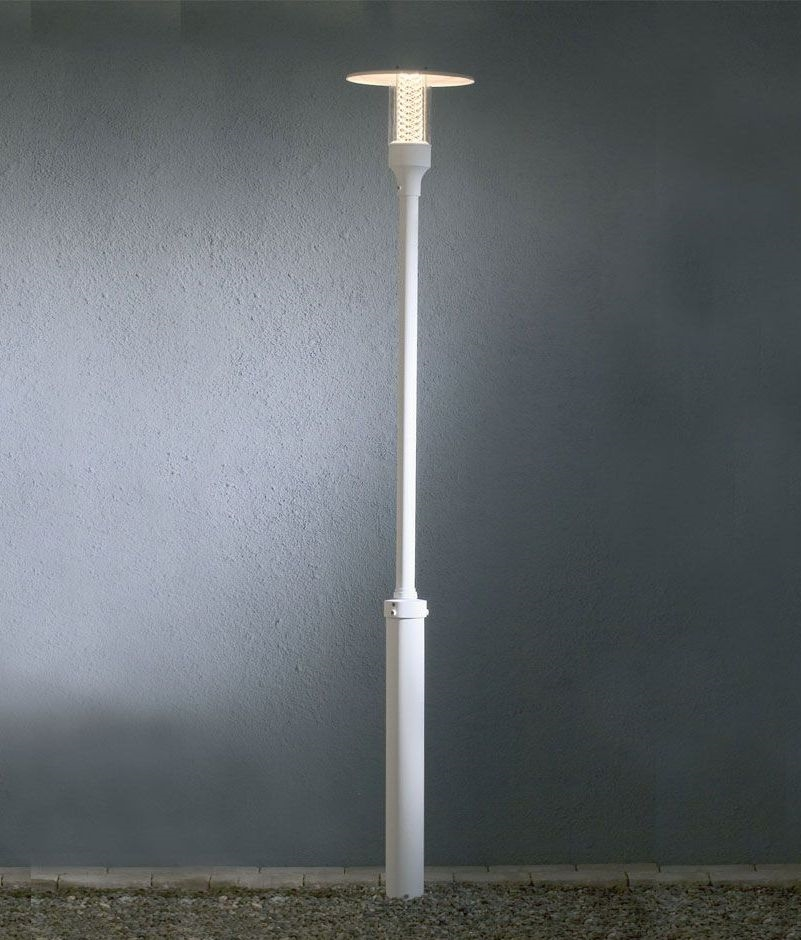 Stylish modern lamp post for Contemporary outdoor post light fixtures