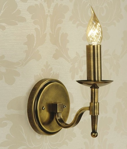 reputable site 66279 87085 Antique Brass Wall Light - Single or Double