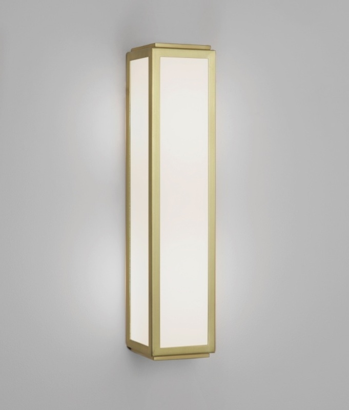 Bathroom wall light in art deco design for Gold bathroom wall lights
