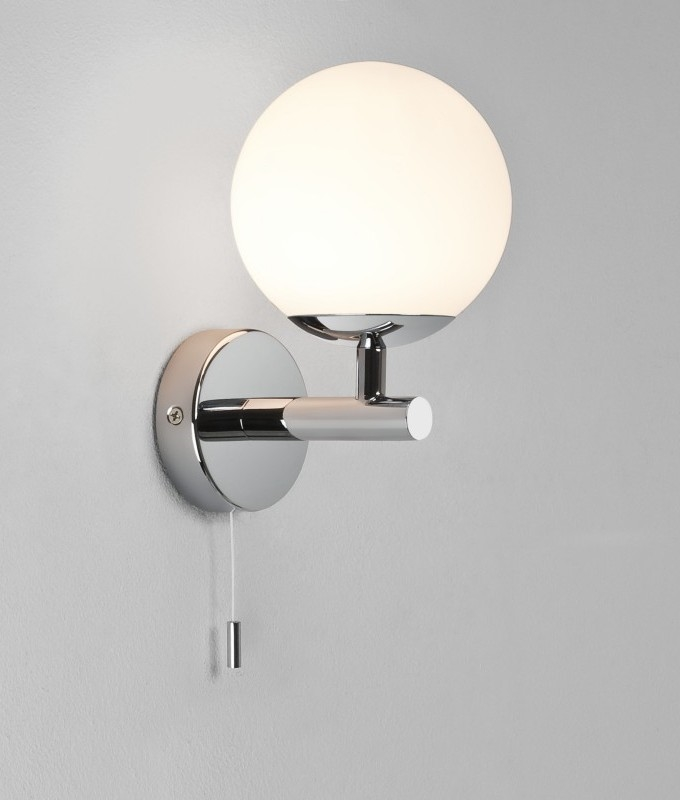 Glass Globe Bathroom Wall Light