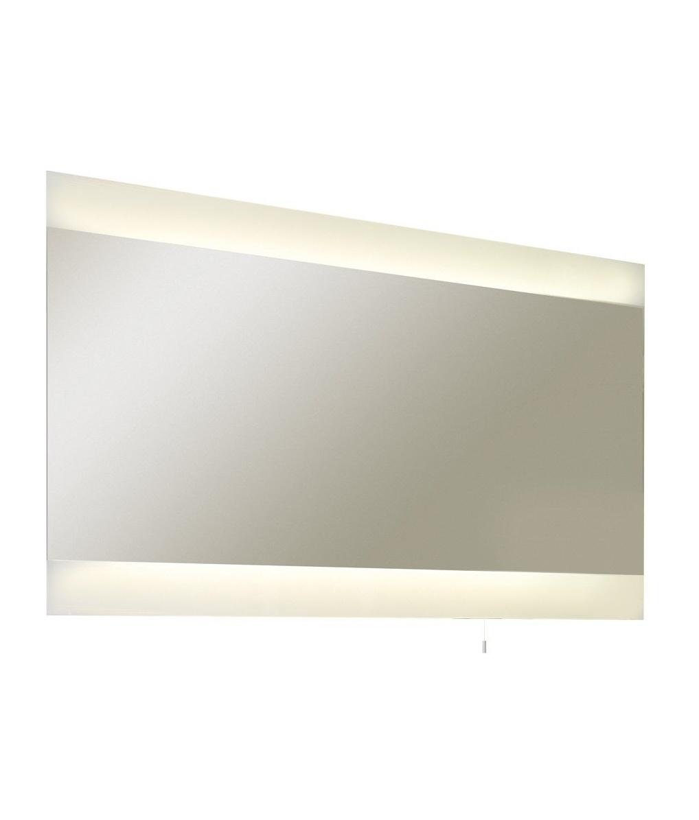 wide illuminated bathroom mirror