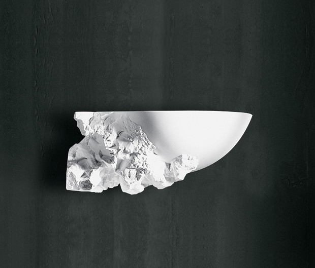 contemporary designer unfinished design plaster wall light. Black Bedroom Furniture Sets. Home Design Ideas