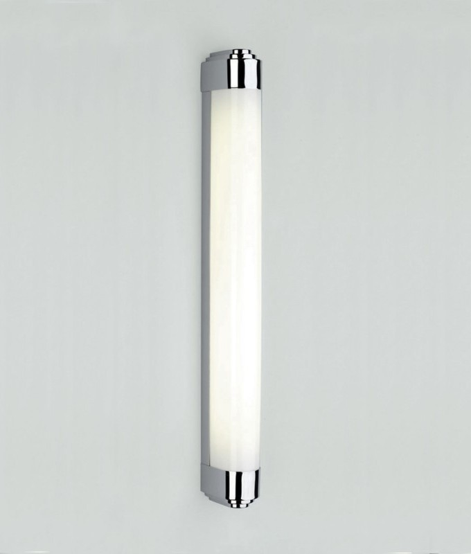 Chrome art deco wall light for bathroom mirrors and walls - Art deco bathroom lighting fixtures ...