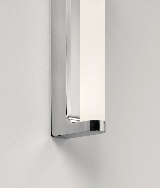 Bright Polished Chrome LED Bathroom Mirror Light