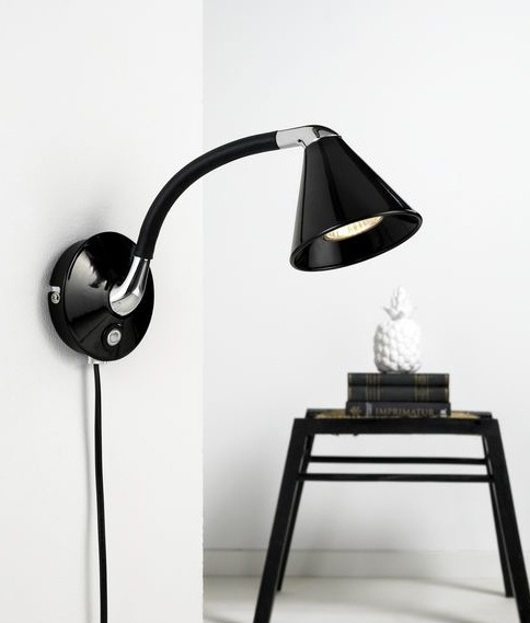 Attractive flexible wall light attractive flexible wall light touch dimmable black or white finish mozeypictures Image collections