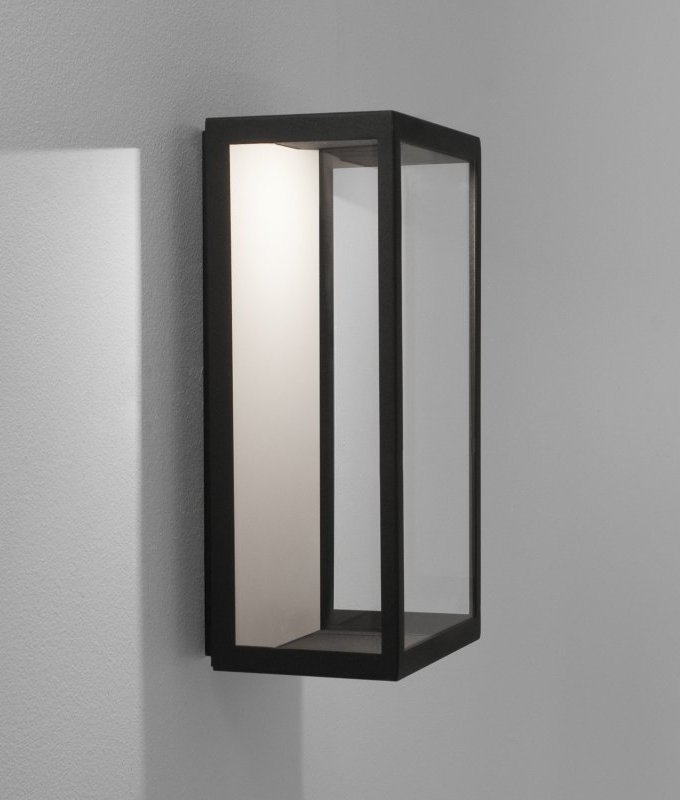 Led Modern Framed Wall Mounted Half Lantern