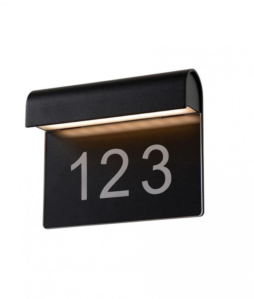 Black Aluminium Led Illuminated Number Plate