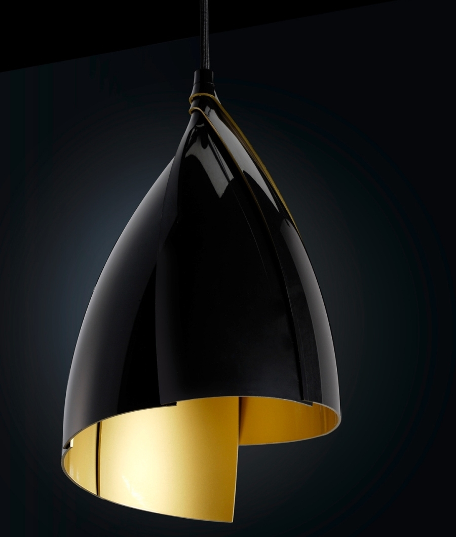 Tulip Design Pendant Light In Black Or White