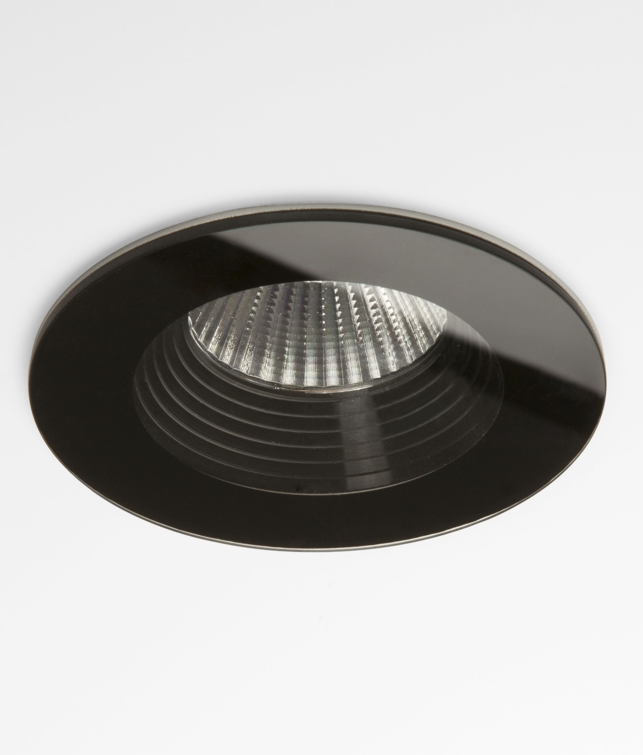 Bathroom Ceiling Downlights stunning round glass led bathroom fired rated downlights in black