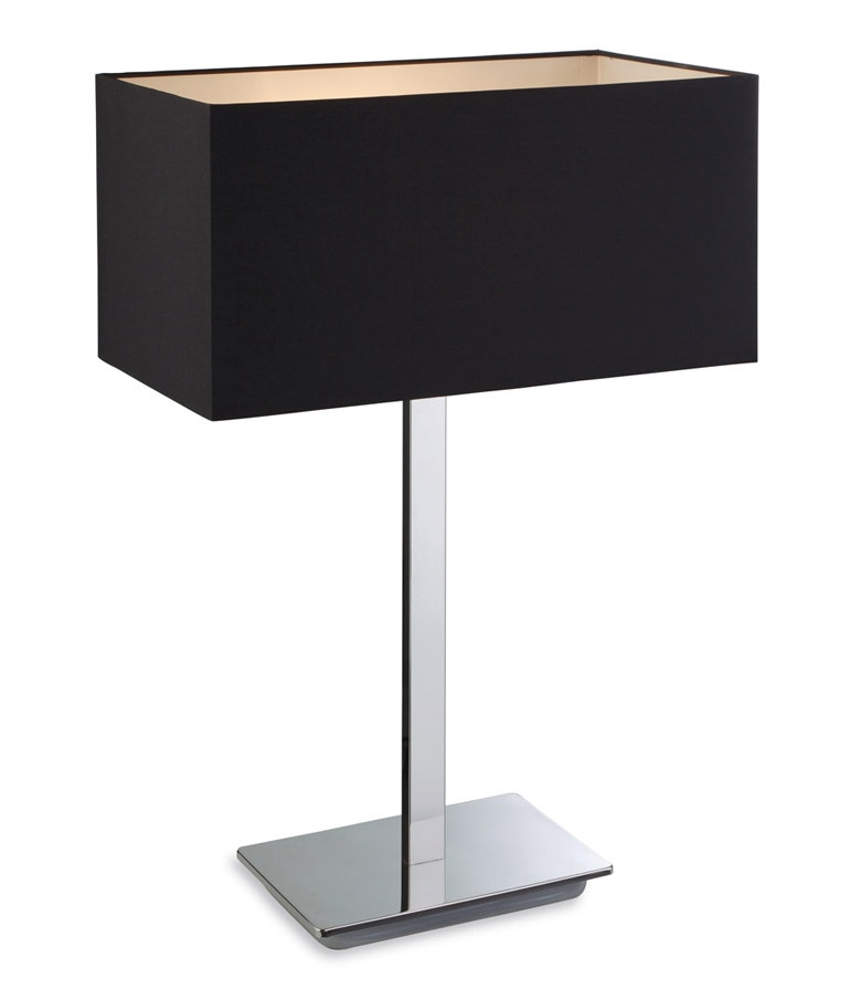 Stainless steel modern table lamp with choice of shade