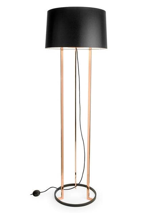 gold black shaded floor lamp. Black Bedroom Furniture Sets. Home Design Ideas