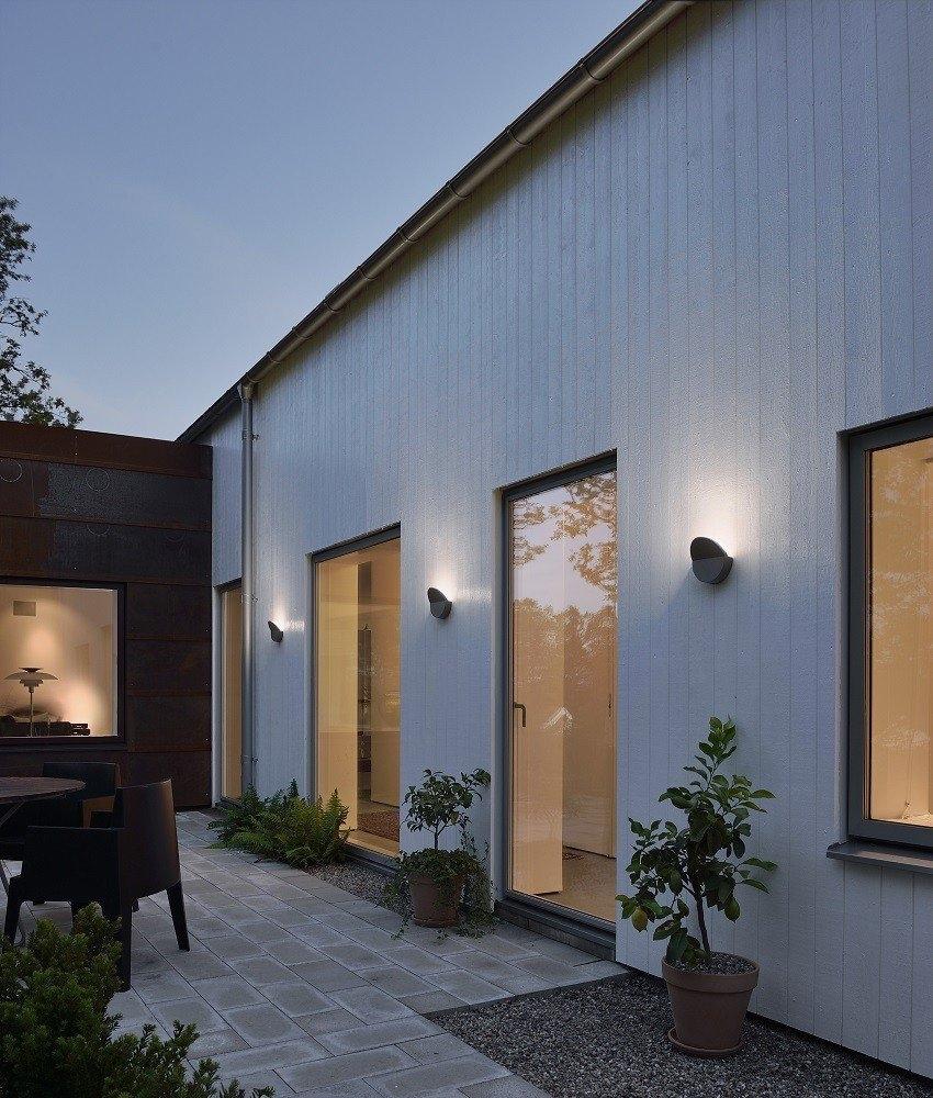 No Glare Led Grey Exterior Wall Light