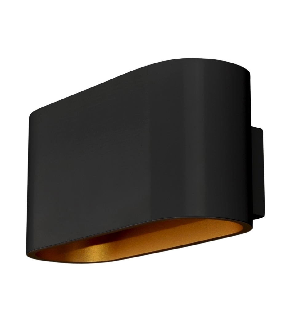 Aluminium Wall Light with Gold Interior - Wall lights, LED bathroom & bedroom lighting at ...