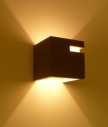 Wall Sconces That Shine Up And Down: Box & Slot Plaster Wall Light