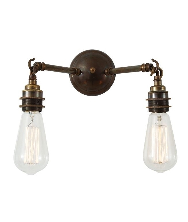 Bare Lamp Double Wall Light 3 Finishes