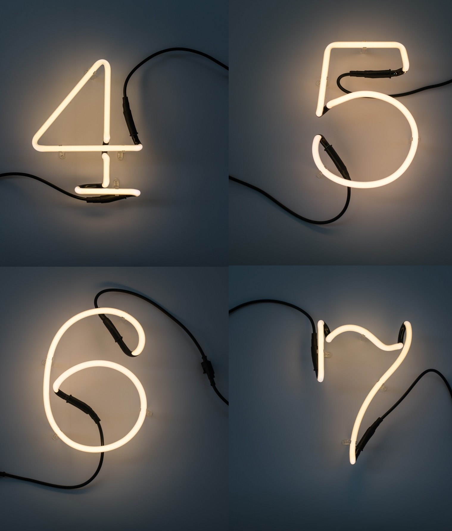 Linkable Neon Numbers And Symbols Perfect For Home Or
