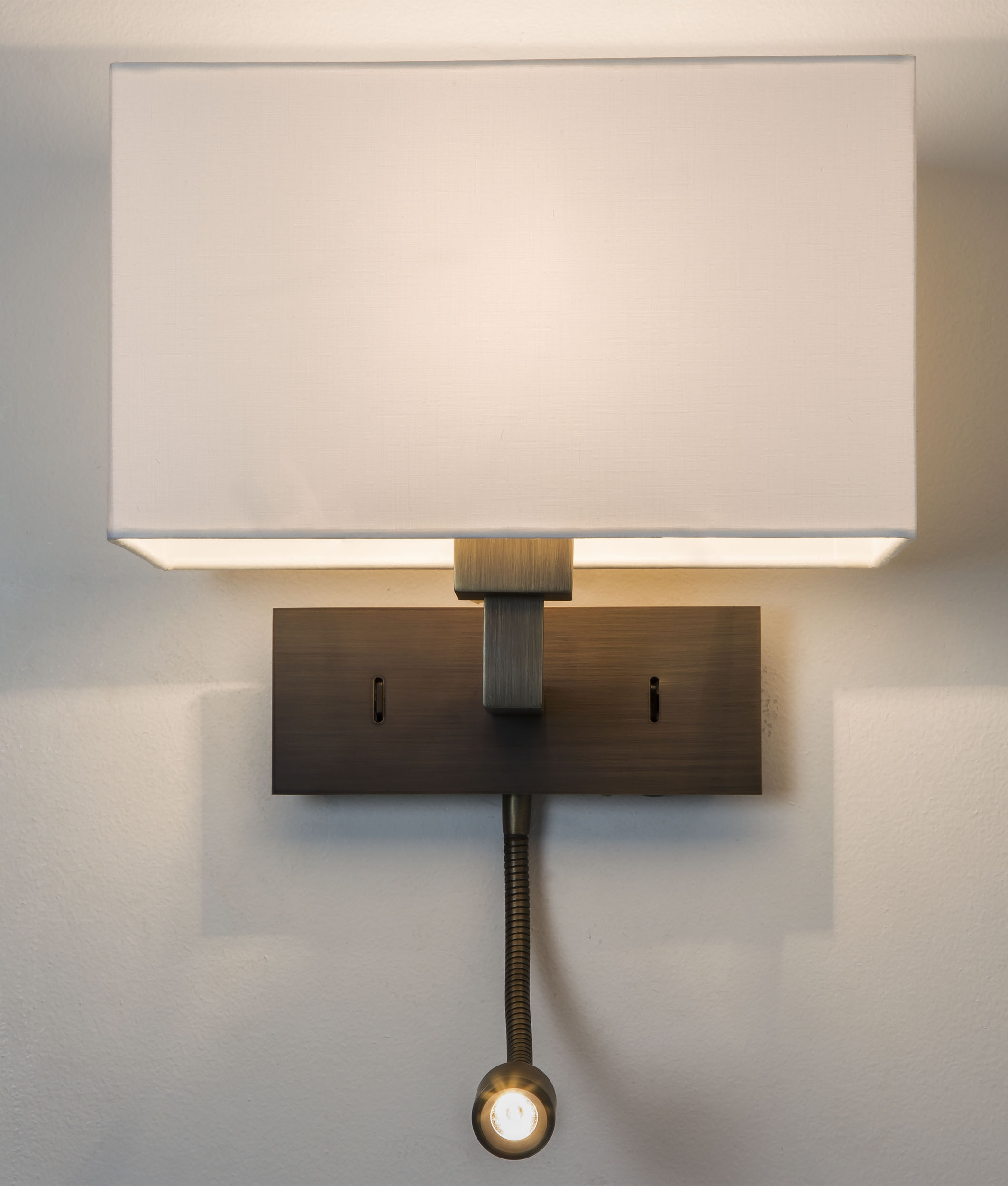 Led Wall Lamp Shades : Large Shade Wall Light with LED Arm