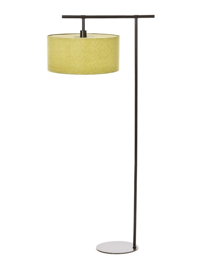 Dark brown floor lamp lime shade for Floor lamp with green shade