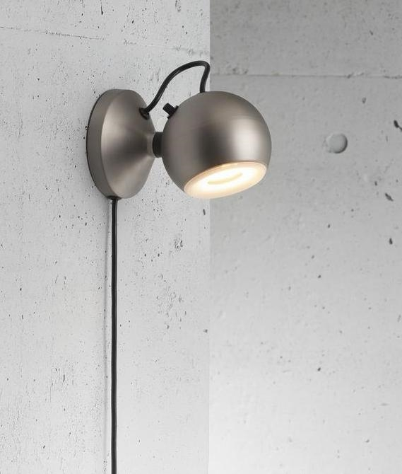 Ball Shaped Wall Light With Plug-in Lead And Dimmer In 2 Colours