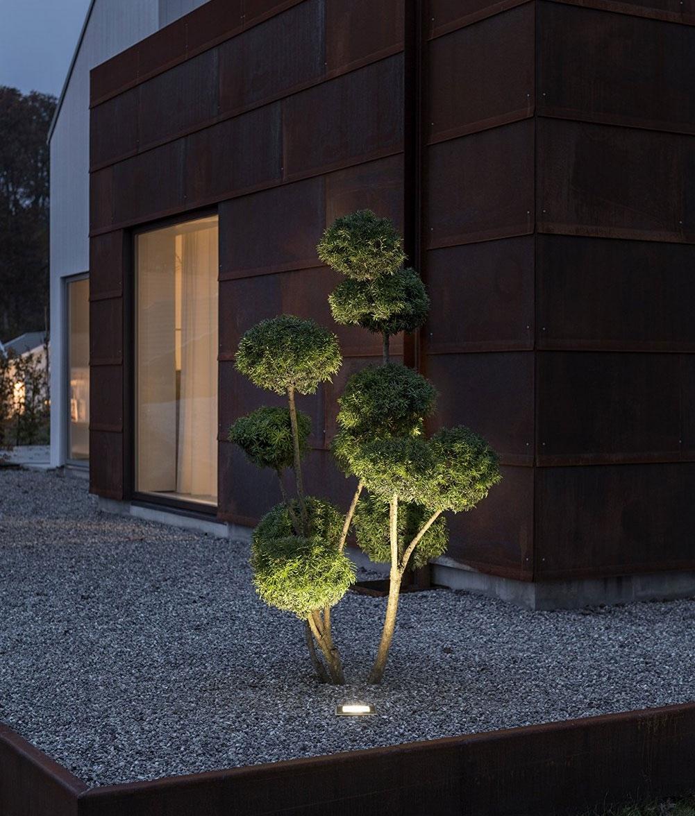 Unique LED Ground Uplights With Dusk U0027til Dawn Sensor ...