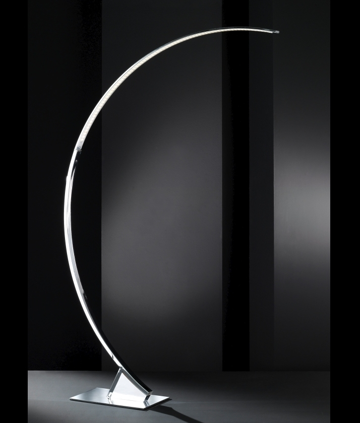 Curved long reach floor lamp chrome curved long reach chrome floor lamp aloadofball Gallery