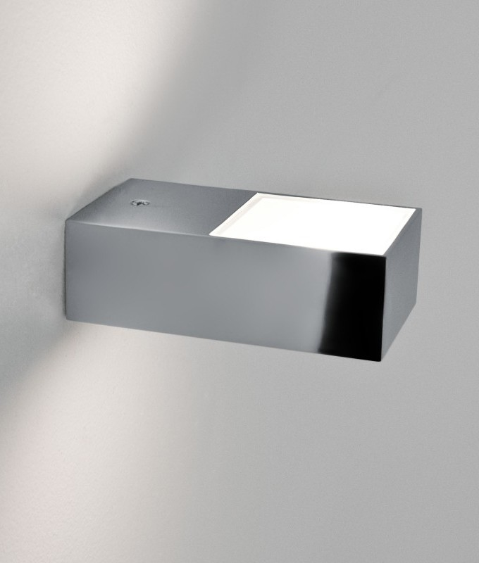 Brightest Wall Lights : Mini Chrome Bright Bathroom Wall Light
