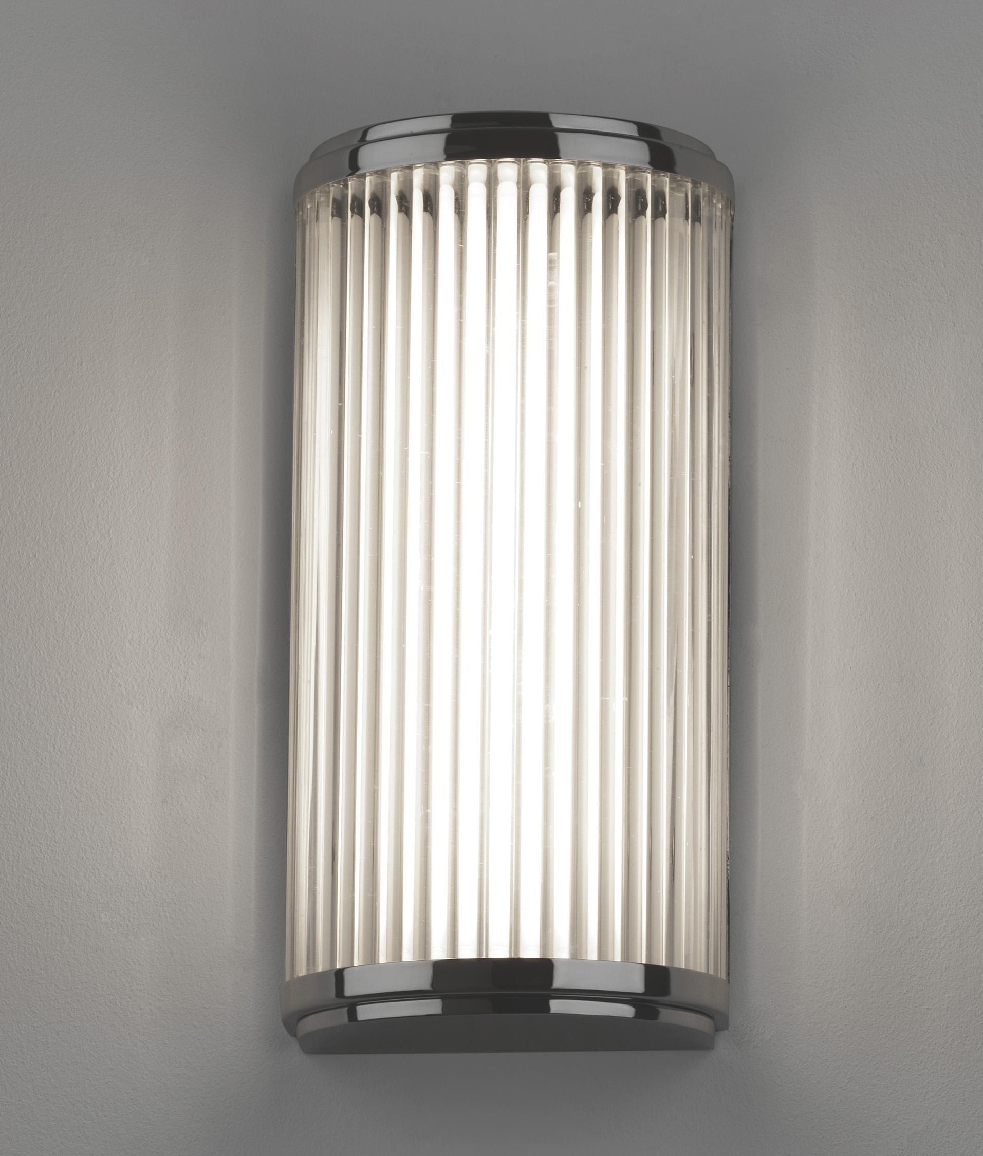 Ribbed Glass Wall Lights : LED IP44 Wall Light - Glass Rods H:250mm
