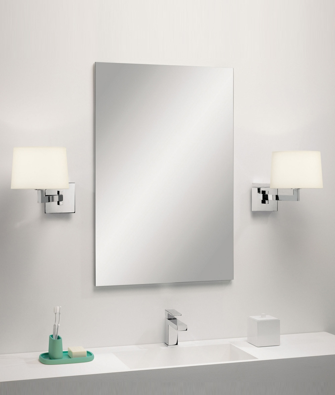 Swing Arm Shaded Bathroom Wall Light