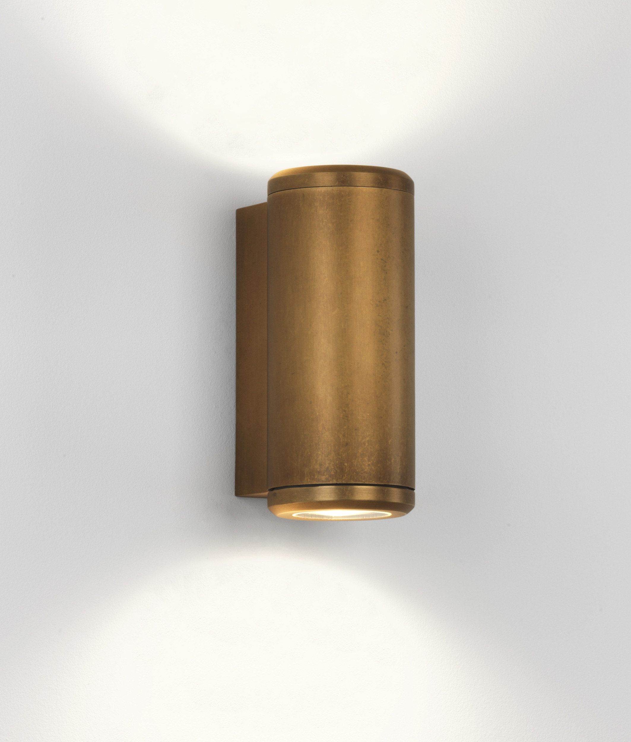 Up & Down Coastal Wall Light in Antique Brass Finish