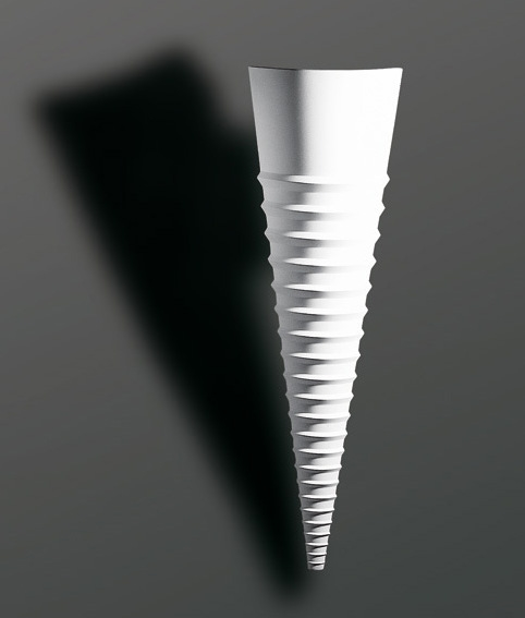 Cone Plaster Wall Light with Ribbed Effect