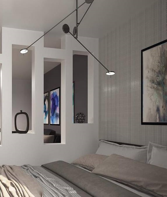 Quirky Led Ceiling Fixture With 3 Counterbalanced Dimmable