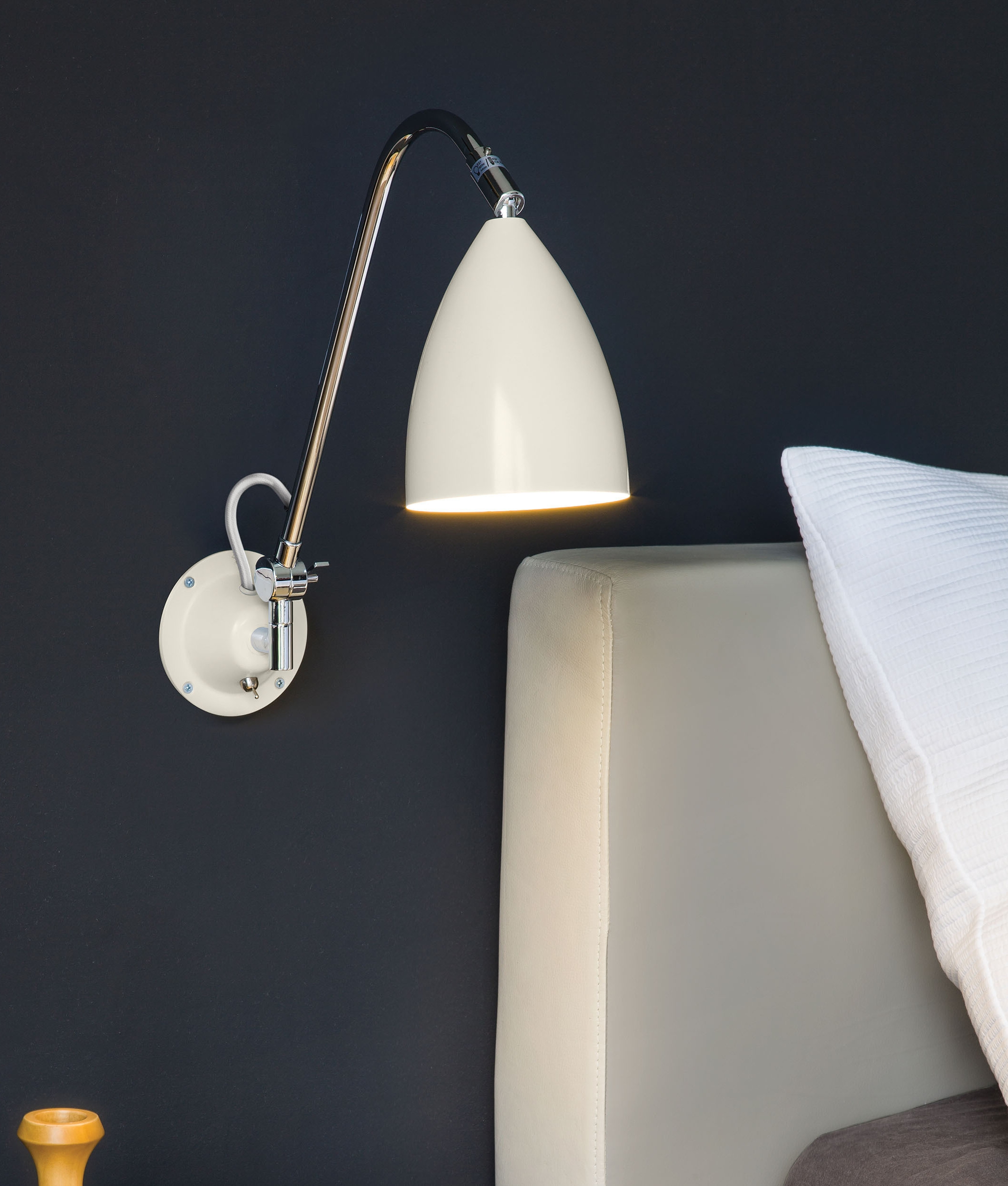 A Classic Yet Contemporary Bedside Reading Light in 4 colours.