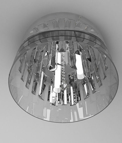 Endon 60103 Chryla Crystal Bathroom Ceiling Flush Light IP44 Hover To Zoom