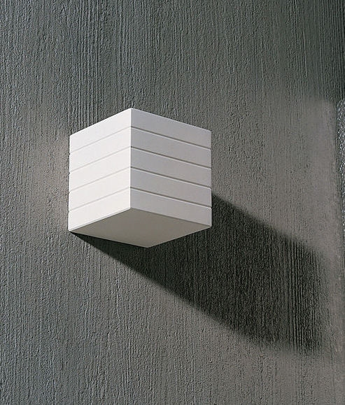 Plaster Wall Lights For Painting : The Cube Plaster Wall Light