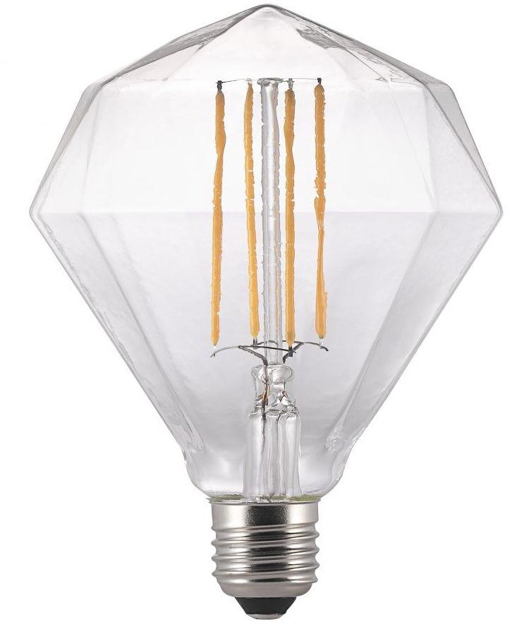 E27 Base Led Clear Diamond Shaped Lamp