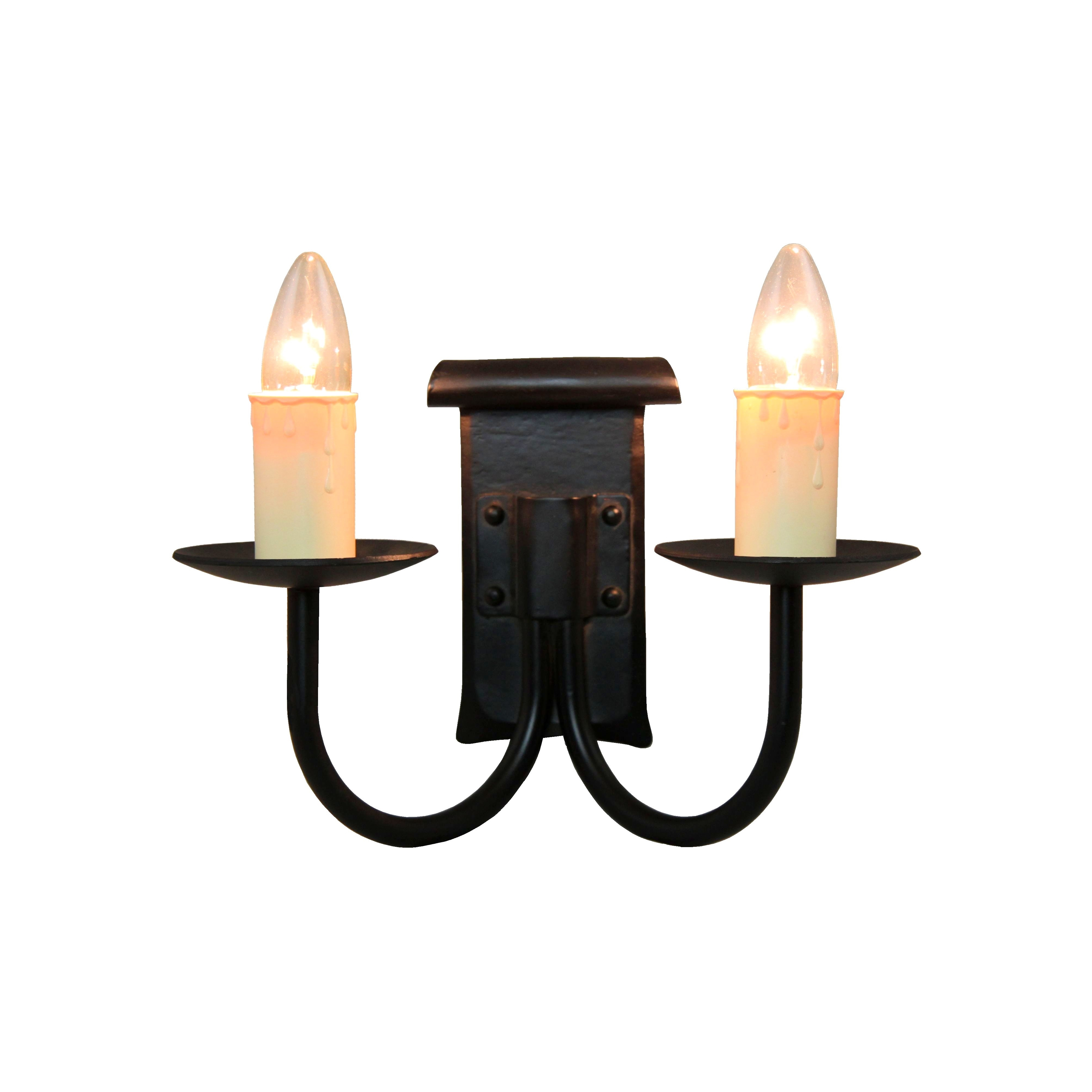 Candle Drips Wall Lights : Artisan Single or double arm wall lights