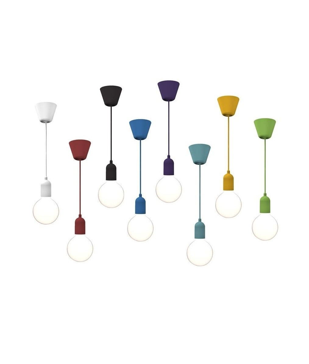 funky coloured lamp holder and flex in 9 colours