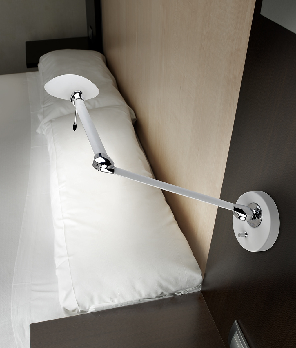 low profile long reach wall light with dimmer. Black Bedroom Furniture Sets. Home Design Ideas