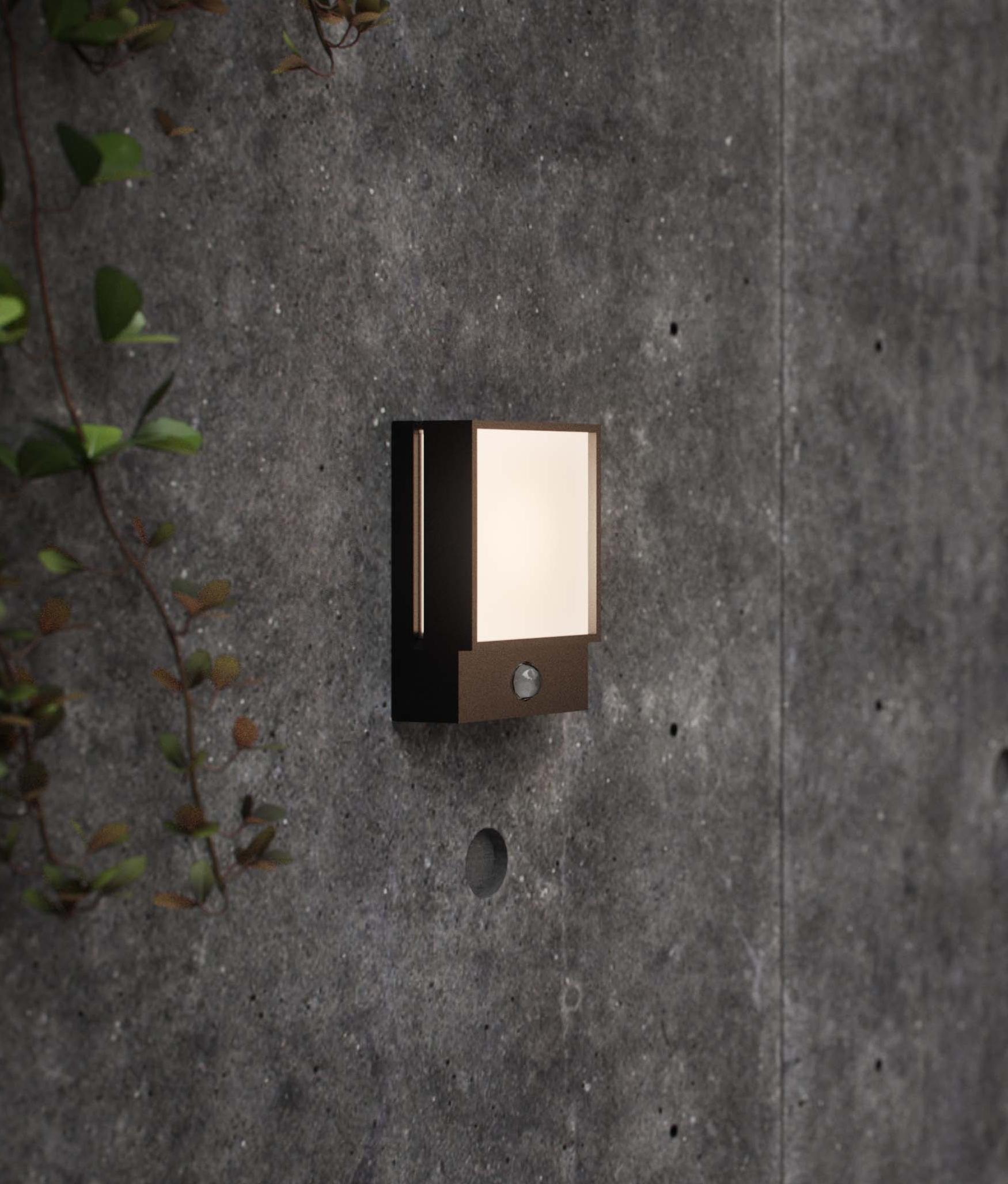 Twilight Feature Pir Black Exterior Wall Light