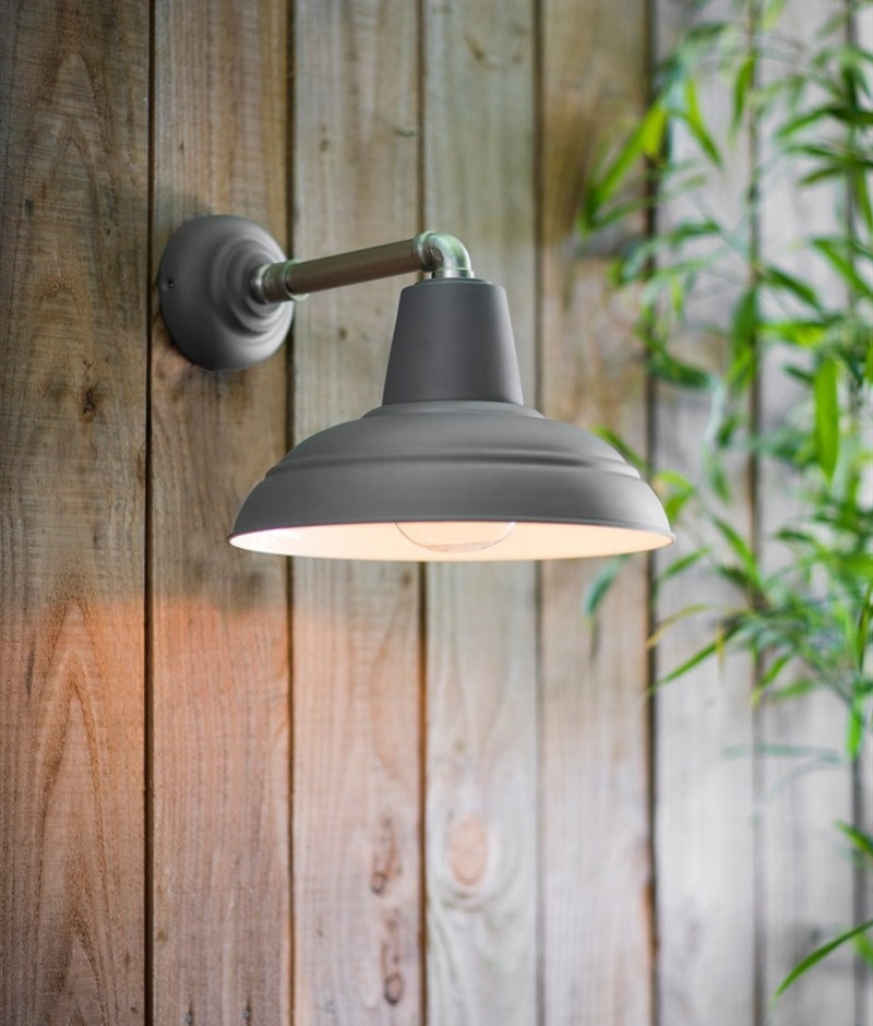 Industrial Dark Grey Canopy Wall Light Ip44